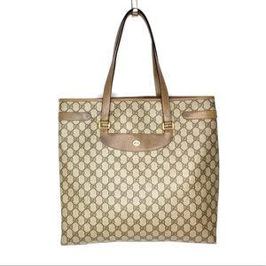 Authentic Gucci brown monogram large tote
